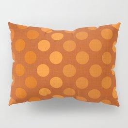 """Orange Burlap Texture & Polka Dots"" Pillow Sham"