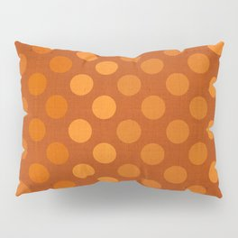 """Orange Burlap Texture & Polka Dots"" Pillow Sham"