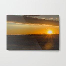 Summer Solstice Sunset, North Dakota 2 Metal Print