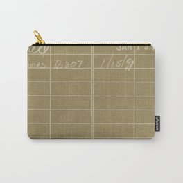 Library Card 797 Negative Brown Carry-All Pouch
