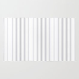 Soft Grey Mattress Ticking Wide Striped Pattern - Fall Fashion 2018 Rug
