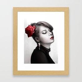 Vintage Portrait - Pop of Color Framed Art Print
