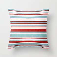 Christmas Stripes Throw Pillow