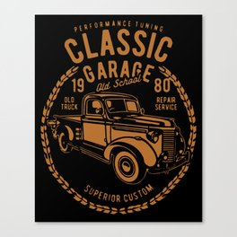 classic garage Canvas Print