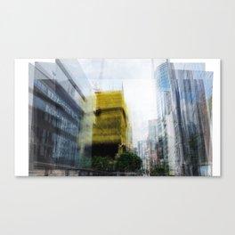 Hong Kong building, from memory Canvas Print