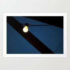 Bulb Moon Art Print