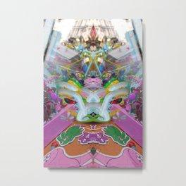 barbapapa shop Rorschach symmetry caleidoscope Metal Print