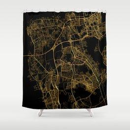 Beirut map, Lebanon Shower Curtain