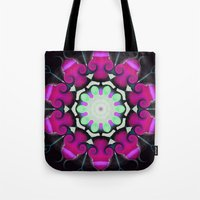 neon Tote Bags featuring Neon by IowaShots