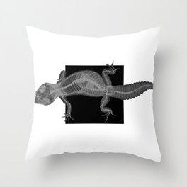 Gecko Skeleton Throw Pillow