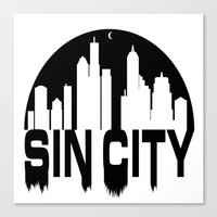 sin city Canvas Prints featuring SIN CITY  by Robleedesigns