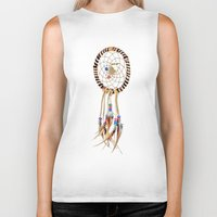 spiritual Biker Tanks featuring Spiritual Dreamcatcher by Bruce Stanfield Photographer