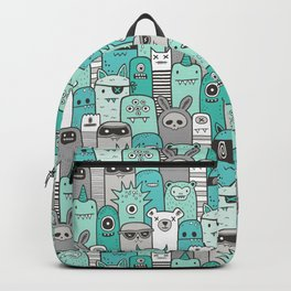 Monsters & Friends in Green Backpack