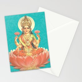 Lakshmi, Goddess of Love (Turquoise) Stationery Cards