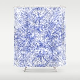 CPU (Dark T-shirt Version) Shower Curtain