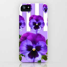MODERN LILAC & PURPLE PANSY FLOWERS ART iPhone Case