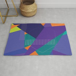 Purple Geometric pattern Abstract funny Rug