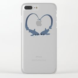 Valentine Sharks Clear iPhone Case