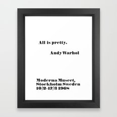 WARHOL All is pretty Framed Art Print