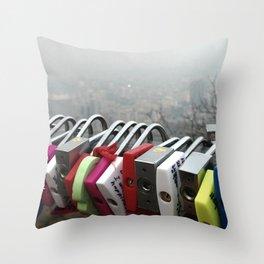 Smog in Seoul Throw Pillow