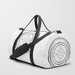 Black and white aztec sacred geometry art Duffle Bag