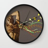 spawn Wall Clocks featuring Persephides by Canson City