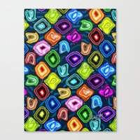geode Canvas Prints featuring Geode Delight! by Sylvie Heasman