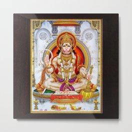 Hindu Hanuman Monkey God 5 Metal Print