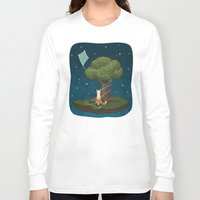 le petit prince Long Sleeve T-shirts featuring Le Petit Renard by prettygoodmonsters