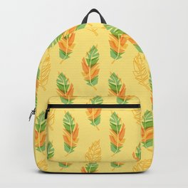 Feather pattern Backpack