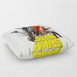 Star War s Vintage Action Figures - First 12 - Square Floor Pillow
