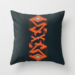 Monument Maze Throw Pillow