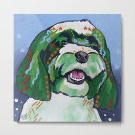 Havanese Pop Art Dog Portrait Metal Print