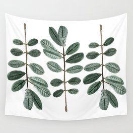 Watercolor Leaves Wall Tapestry