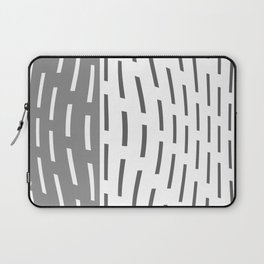 Pattern In Gray And Whte Laptop Sleeve
