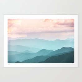 Smoky Mountain National Park Sunset Layers II - Nature Photography Art Print
