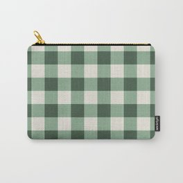 Hunter Green Buffalo Check Carry-All Pouch
