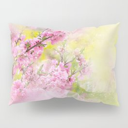 Flowers-pink, purple and yellow Pillow Sham