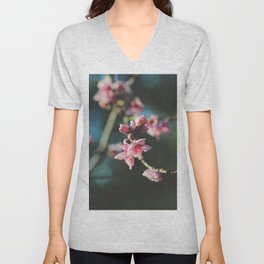 Peach tree in bloom Unisex V-Neck