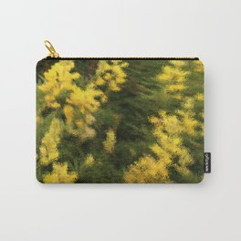 Yellow  Rain Carry-All Pouch