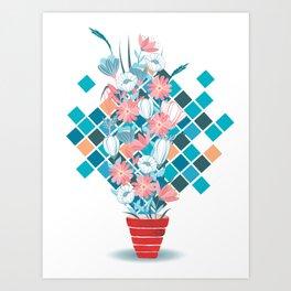 Art Flowers Art Print