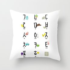 Korean (Hanguel/Hangul) illustration Poster Throw Pillow