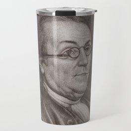 Vintage Portrait of Ben Franklin (1787) Travel Mug