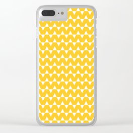 Triangles   Yellow & White Clear iPhone Case