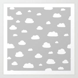 little clouds Art Print