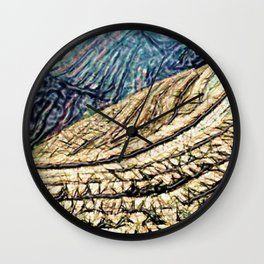 Terraces Above and Below Wall Clock