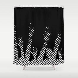 Halftone Raised Hands Shower Curtain