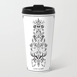 La Vie + La Mort: Black Ink Travel Mug