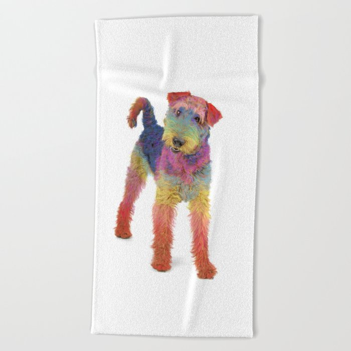 Airedale Terrier Beach Towel