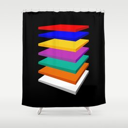 7 LEVELS Shower Curtain